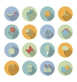 Ecology flat icons set vector image