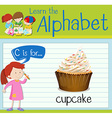 Flashcard letter C is for cupcake vector image vector image