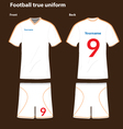 Football-T-shirt vector image vector image