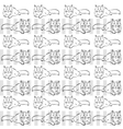 gray background with cats vector image