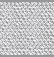grayscale hexagonal seamless pattern vector image