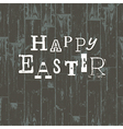 happy easter card vintage vector image vector image