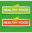 Healthy food label set vector image