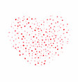 heart background for valentines day red and pink vector image vector image