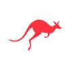 Icon red kangaroo