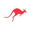 icon red kangaroo vector image