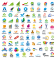large set of logos Finance vector image