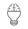 light bulb brain idea vector image