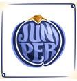 logo for juniper vector image