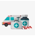 Medical care design Health care icon Colorful vector image vector image