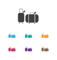 of trip symbol on trip icon vector image vector image