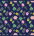 otanical seamless pattern with floral collection vector image vector image