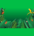 paradise rainforest concept banner cartoon style vector image
