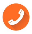 phone icon contact support service sign isolated vector image vector image