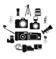 photography simple icons vector image vector image