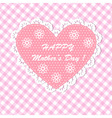 Pink Happy mothers day card design vector image vector image