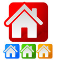 rectangular house icons vector image