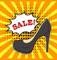 Sale banner in comic book pop art style with