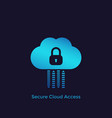 secure cloud access protected hosting icon vector image vector image