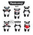 set of cute panda characters set 4 vector image