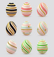 set of decorative easter eggs vector image vector image