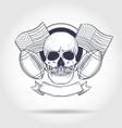 sketch skull american football vector image