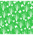 snow butterfly pattern green vector image vector image