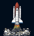 space shuttle takes off astronomical astronaut vector image