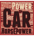 The Death Of The Muscle Car My First Case text vector image vector image