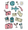 Travel and Vacation Doodles vector image