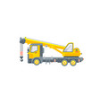 truck with crane side view vector image vector image