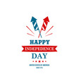 united states independence day happy 4th of july vector image