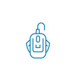 wired mouse linear icon concept wired mouse line vector image vector image