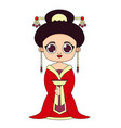woman in traditional chinese clothes vector image vector image