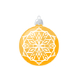 Yellow Ball with Snowflake Isolated on White vector image vector image