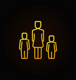 yellow mother with two kids icon vector image vector image