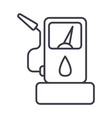 fuel gas station line icon sign vector image