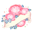Peony Flower Design vector image