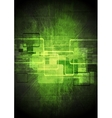 Abstract tech green design vector image vector image