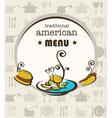 american menu vector image vector image