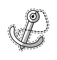 anchor nautical travel maritime shadow vector image