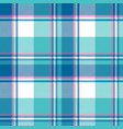 Baby boy blue pastel color plaid seamless pattern vector image
