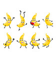 banana fruits cartoon character vector image vector image