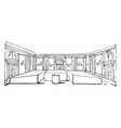 banqueting room roman people reclined at their vector image vector image