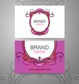 brand name frame logo vector image vector image