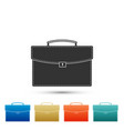 briefcase icon isolated business case sign vector image vector image