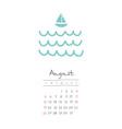 calendar 2018 months august week starts sunday vector image