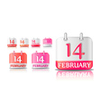 calendar icon on february 14th vector image