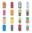 car top view above over icons set flat style vector image vector image