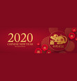 chinese new 2020 year celebration template vector image